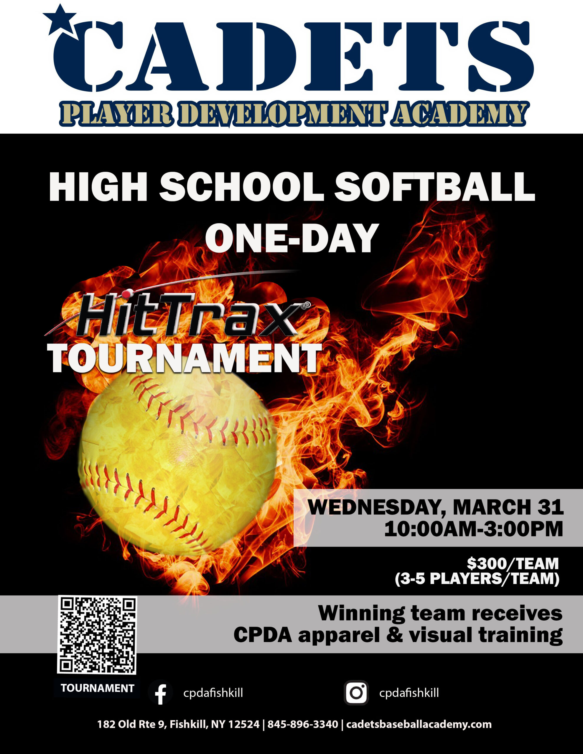 spring recess softball hittrax tourney flyer