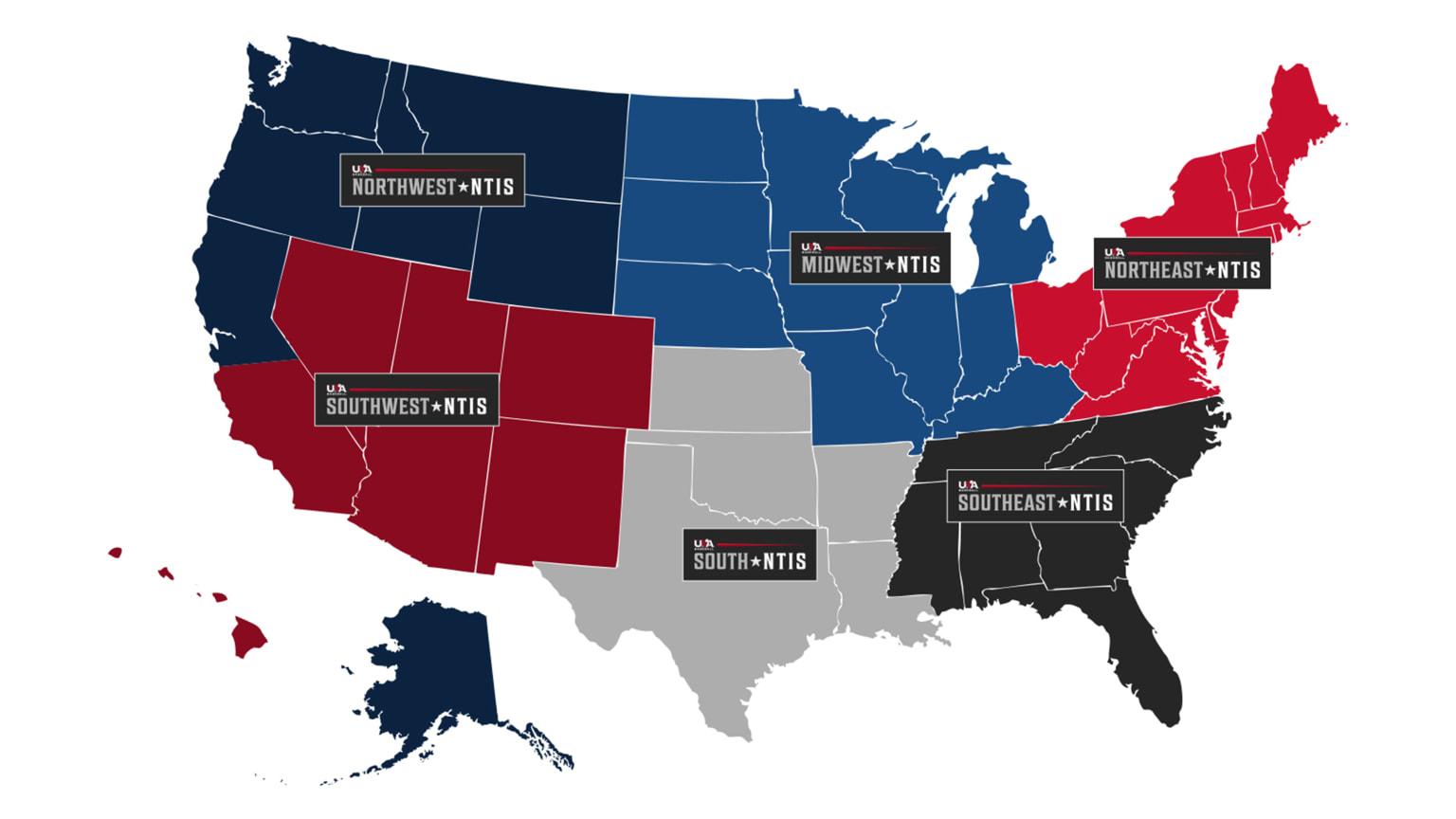 USA NTIS map