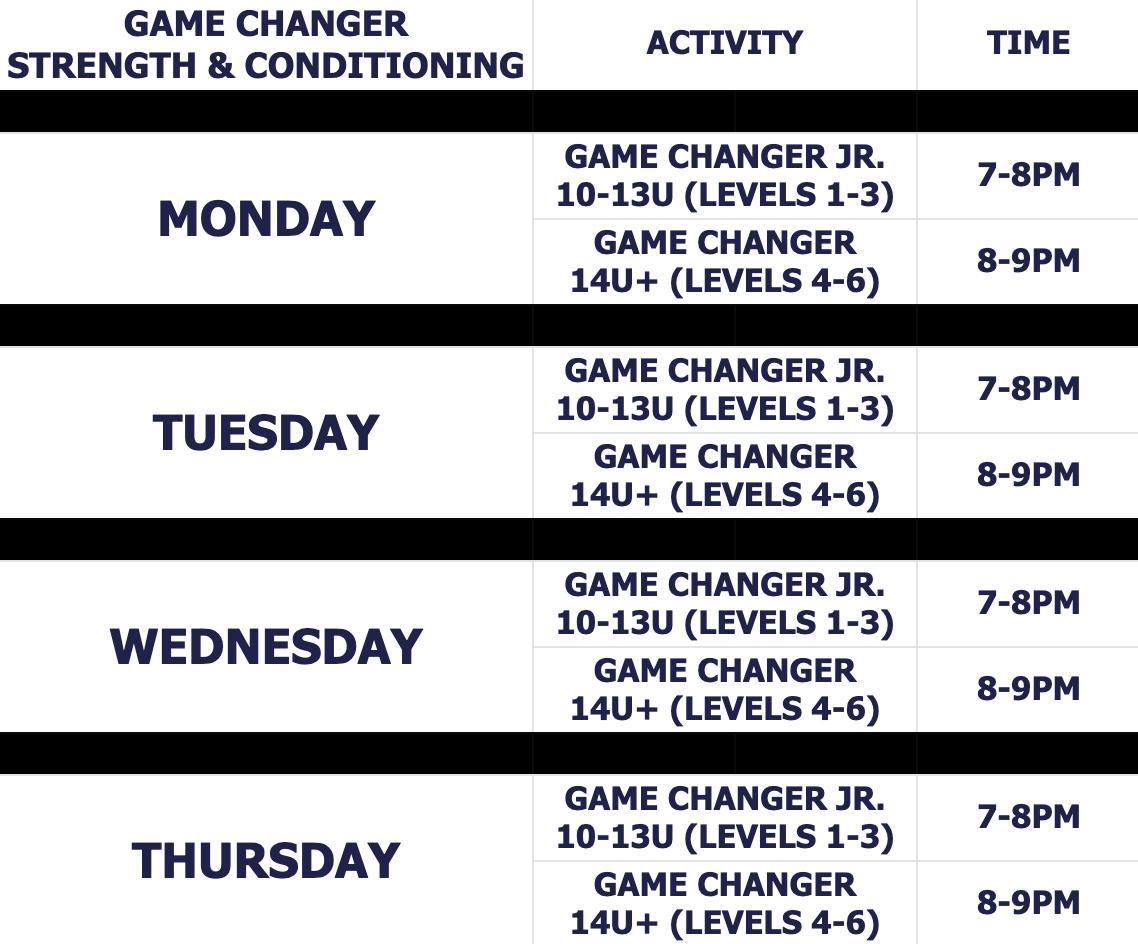 gc strength & conditioning summer schedule